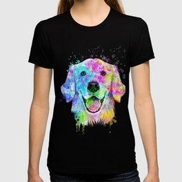 Golden Retriever Watercolor, Watercolor Dog, Golden Retriever Art T-shirt