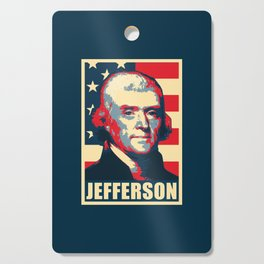 Thomas Jefferson America Pop Art Cutting Board