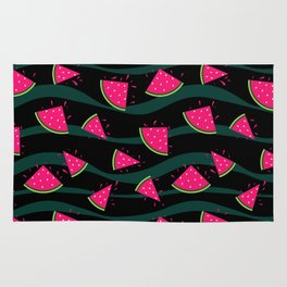 Watermelon slice . Rug