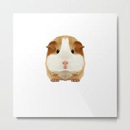 Guinea Pig Make me Happy People Wheek Gift Idea Metal Print