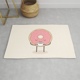 donut loves coffee Rug