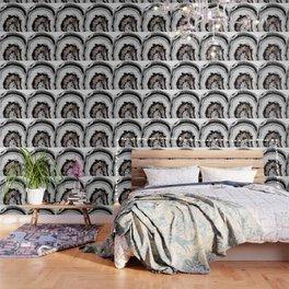 Gray Black White Agate with Rose Gold Glitter #1 #gem #decor #art #society6 Wallpaper