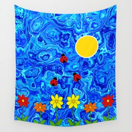 Blue Sky Summers Day Wall Tapestry
