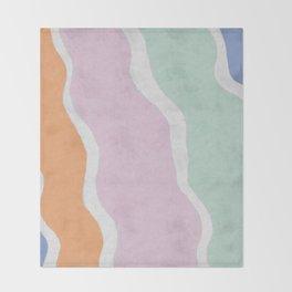 Pastel Waves Throw Blanket