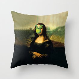 GIOCONDA MAGRITTE Throw Pillow