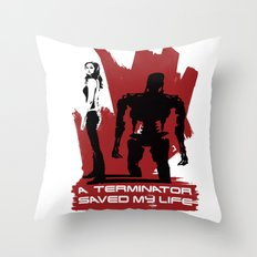 A Terminator Saved My Life Throw Pillow