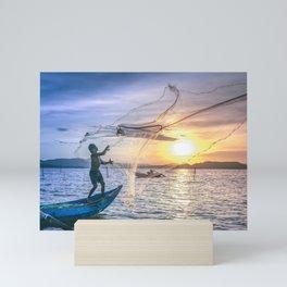 Cast the Net Mini Art Print