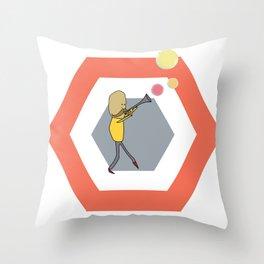 Bubble Trumpet Throw Pillow