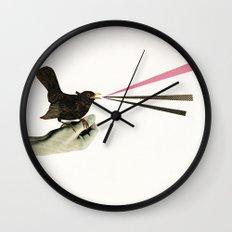 Bird in the Hand Wall Clock
