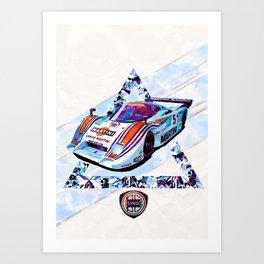 "Lancia LC2 ""Lancia-Ferrari""// Le Mans Race Cars Art Print"