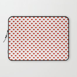 '80s Hearts - Red 2 - Back to Basics Laptop Sleeve