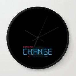 CH:AN:GE Wall Clock