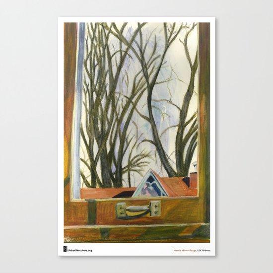 "Marcia Milner-Brage, ""Window Silver Maples Winter"" Canvas Print"