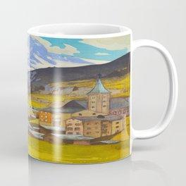 The Matterhorn 1925 Hiroshi Yoshida Vintage Japanese Woodblock Print Coffee Mug