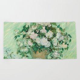 Vincent van Gogh - Roses Beach Towel