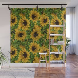 Vintage & Shabby Chic - Sunflowers Flowe Garden Wall Mural