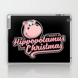 I want a hippopotamus for Christmas Laptop & iPad Skin