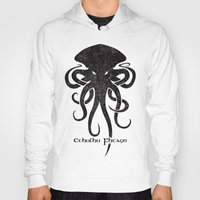 cthulhu Hoodies featuring Cthulhu by Hans Mills