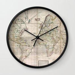 World Map 1719 Wall Clock