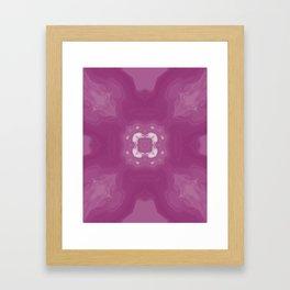 Amethyst & White Gemstone Liquid White Smoke Kaleidoscope Digital Painting Framed Art Print