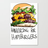 hamburger Canvas Prints featuring Hamburger by Let's Make Food Babies