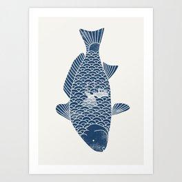 Fishing in a fish 2 Kunstdrucke