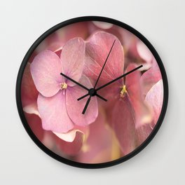 Hortensia Flower Pink Hydrangea #decor #society6 Wall Clock