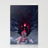nightmare Stationery Cards featuring Nightmare by Team Ronin