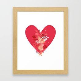 Feelings (Pink) Framed Art Print
