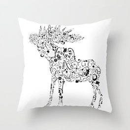 Many shapes of the Moose Throw Pillow
