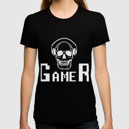 Skull Gamer Headset Product Design Design T-shirt