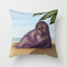 Bird Under the Palms Throw Pillow