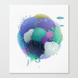 grass sphere Canvas Print
