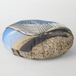Beached Boat Floor Pillow