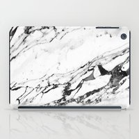 white marble iPad Cases featuring Marble by Judith Abbott