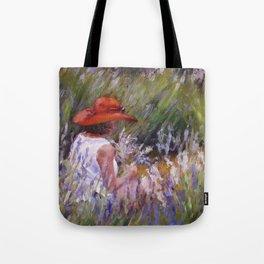 Lavender Picking — L Diane Johnson Tote Bag
