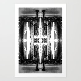 Double Vision from Michigan Avenue, Chicago Art Print