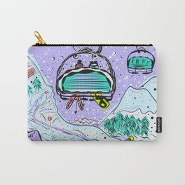 Winter snow alpine wonderland illustration Carry-All Pouch