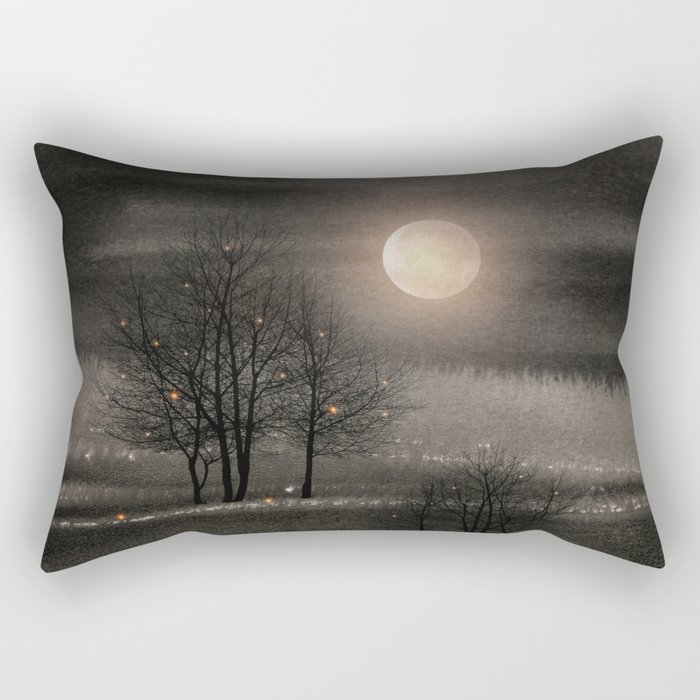 Calling The Moon III Rectangular Pillow
