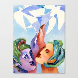 Shared dream Canvas Print