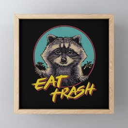 Eat Trash Framed Mini Art Print