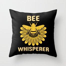 Bee Whisperer | Bees Honey Beekeeper Hive Throw Pillow