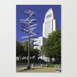 Sister Cities of Los Angeles Canvas Print