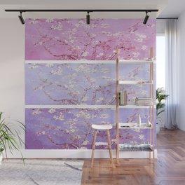 Vincent Van Gogh : Almond Blossoms Lavender Panel Art Wall Mural