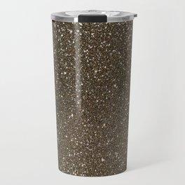Bronze Gold Burnished Glitter Travel Mug