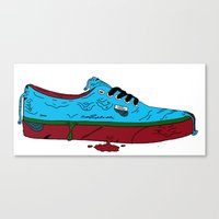 vans Canvas Prints featuring Zombie Vans by Digital Death