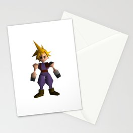 Cloud Low Poly - Final Fantasy VII Stationery Cards