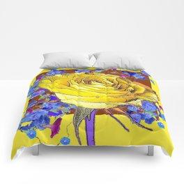 YELLOW ART & YELLOW ROSE BLUE MORNING GLORY Comforters