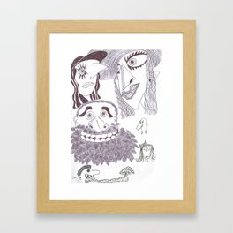 A Grotesque Sextet In Ink Framed Art Print
