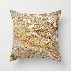 Kashmir Gold Granite Throw Pillow